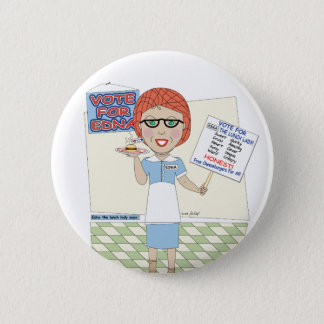 Edna The Lunch Lady Button