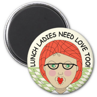 Edna The Lunch Lady Cartoons 2 Inch Round Magnet