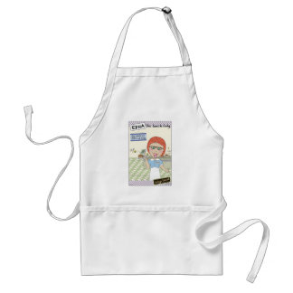 Edna The Lunch Lady Cartoons Adult Apron