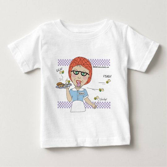 Edna The Lunch Lady Cartoons Baby T-Shirt