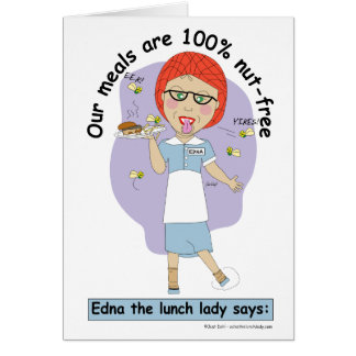 Edna The Lunch Lady Cartoons Card