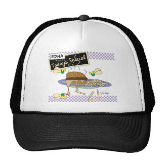 Edna The Lunch Lady Cartoons Trucker Hat