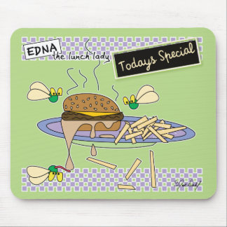Edna the lunch lady mouse pad