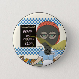Edna the lunch lady pinback button