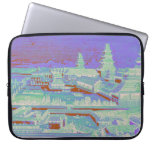 Edo Castle Tokyo Japan Vintage Colorful Fun 1800s Laptop Sleeves
