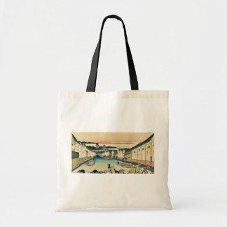 Edo nihonbashi by Katsushika, Hokusai Ukiyoe Bags