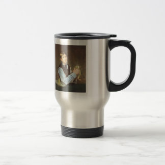 Edouard Manet- A young man peeling a pear 15 Oz Stainless Steel Travel Mug