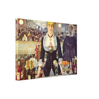 edouard Manet - Bar at the Folies-Bergere Stretched Canvas Prints