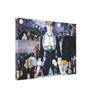edouard Manet - Bar at the Folies-Bergere Canvas Print