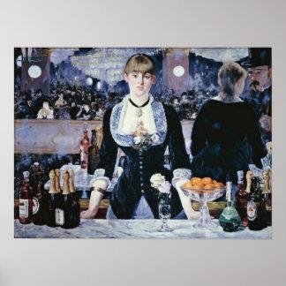 edouard Manet - Bar at the Folies-Bergere Poster