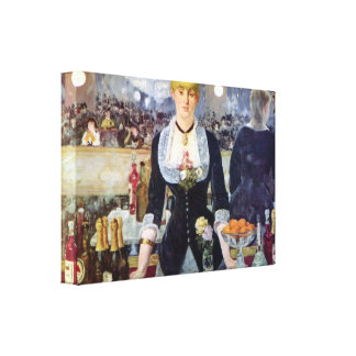 Edouard Manet - Bar in the Folies-Bergere Gallery Wrap Canvas