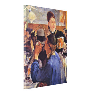 edouard Manet - Beer Waitress Gallery Wrapped Canvas