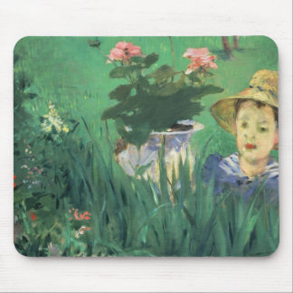 Édouard Manet - Boy in Flowers Mouse Pad