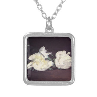 Edouard Manet- Branch of White Peonies & Secateurs Custom Necklace