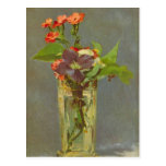 Edouard Manet - Carnations and Clematis in a Cryst Post Card