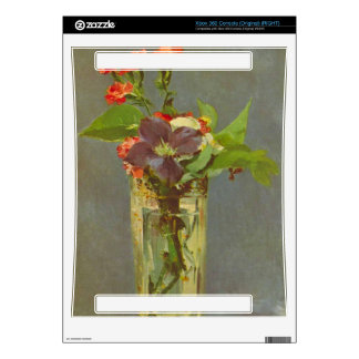 Edouard Manet - Carnations and Clematis in a Cryst Xbox 360 Console Skins