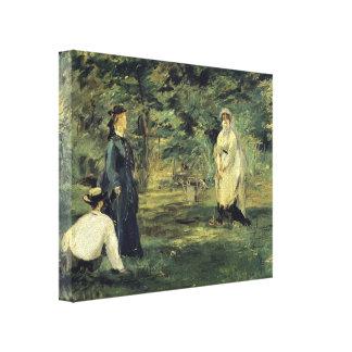 Edouard Manet- Croquet Stretched Canvas Prints