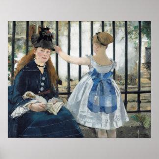 Édouard Manet: El ferrocarril Poster
