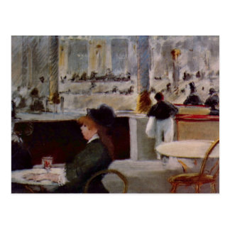Edouard Manet - In Cafe Postcard
