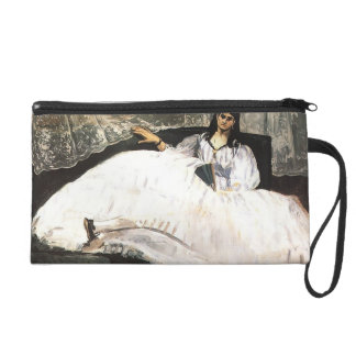 Edouard Manet- Lady with a Fan Wristlet Clutch
