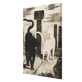 Edouard Manet Le Rendez-vous des Chats Stretched Canvas Print