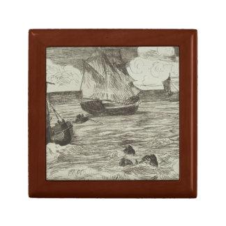 Edouard Manet - Marine Jewelry Box
