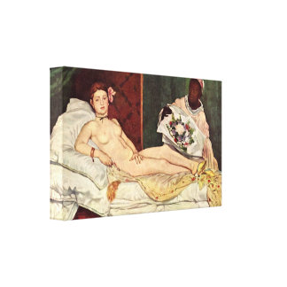 edouard Manet - Olympia Stretched Canvas Prints