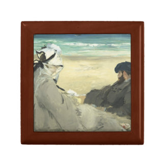 Edouard Manet - On the Beach Keepsake Box
