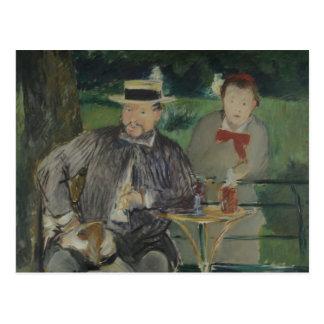 Edouard Manet - Portrait of Ernest Hoschedé Postcard