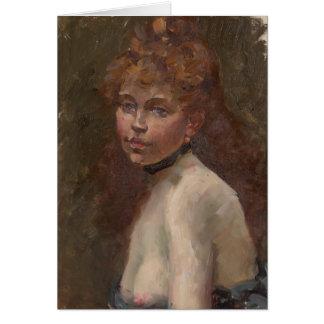 Edouard Manet portrait off Mery Laurent Paris 1879 Card