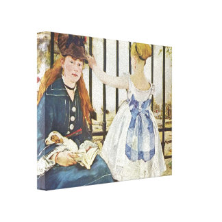 Edouard Manet- Railway Gallery Wrap Canvas