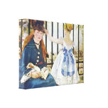 Edouard Manet - Railway Stretched Canvas Prints