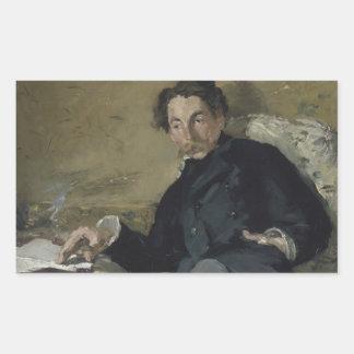 Edouard Manet - Stephane Mallarme Rectangular Sticker