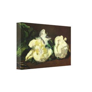 Edouard Manet - Still life White Peony Canvas Print