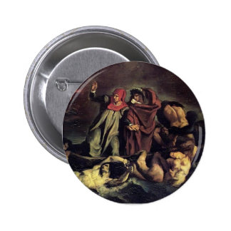 Edouard Manet- The barque of Dante 2 Inch Round Button
