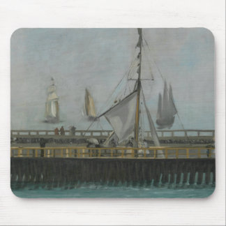Edouard Manet - The Jetty of Boulogne-sur-Mer Mouse Pad