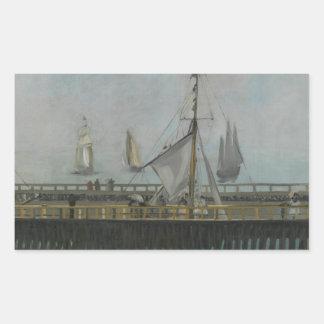 Edouard Manet - The Jetty of Boulogne-sur-Mer Rectangular Sticker