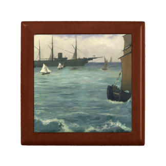 Edouard Manet - The Kearsarge at Boulogne Keepsake Box