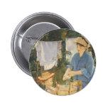 Edouard Manet- The laundry Pinback Button