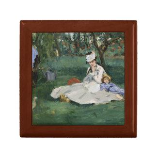 Edouard Manet - The Monet Family in Their Garden Keepsake Box