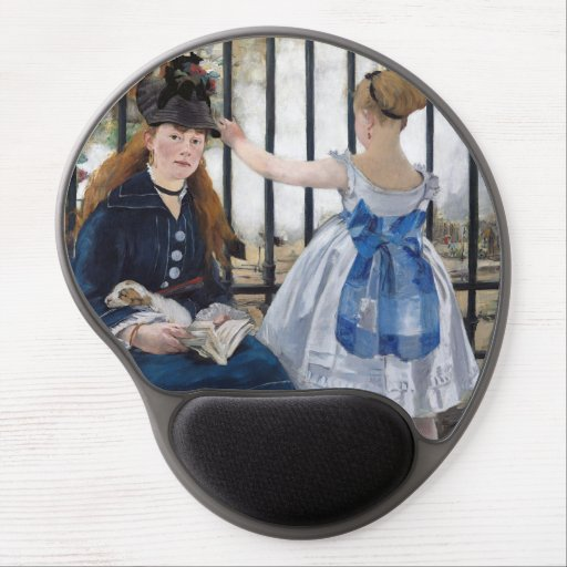Edouard Manet - The Railway Gel Mouse Pad