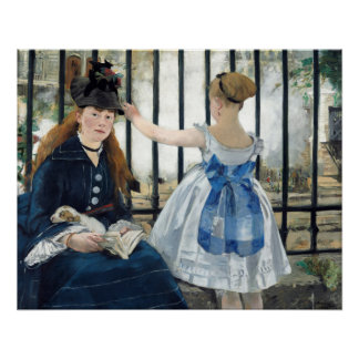 Edouard Manet The Railway Glossy Poster