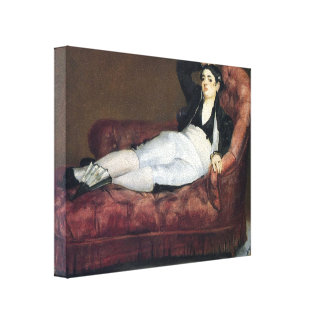 Edouard Manet- Woman Reclining in Spanish Costume Stretched Canvas Prints