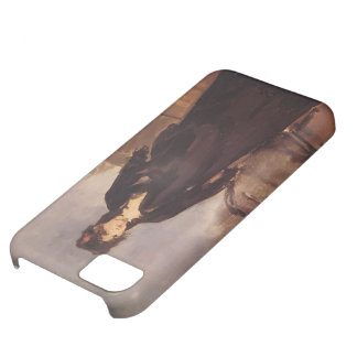 Edouard Manet- Young woman with a pink shoe iPhone 5C Case