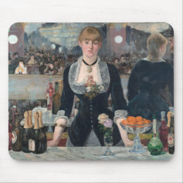 Edouard Manet's A Bar at the Folies-Bergère Mouse Pad