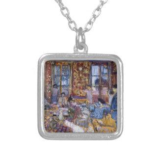 Edouard Vuillard- Breakfast at Villerville Personalized Necklace