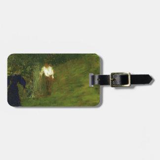 Edouard Vuillard- Man and Woman beneath a Tree Tag For Luggage