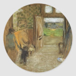 Edouard Vuillard:Vestibule at Saint Jacut mer Classic Round Sticker
