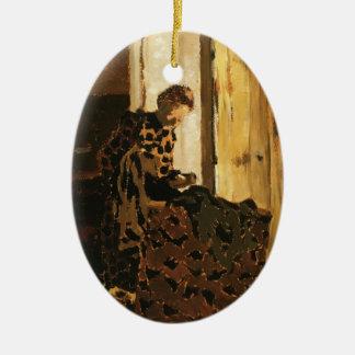 Edouard Vuillard- Woman Brushing a Garment Ornaments