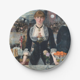 EDOUART MANET - A bar at the Folies-Bergere 1882 Paper Plate